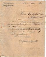 VP12.365 - Lettre - Maison Edouard LEHUGEUR & Cie  - E.GALLIET & LEGEMBLE Successeurs à FLERS DE L'ORNE - 1800 – 1899