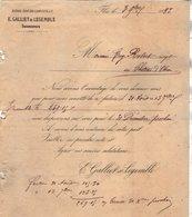 VP12.366 - Lettre - Maison Edouard LEHUGEUR & Cie  - E.GALLIET & LEGEMBLE Successeurs à FLERS DE L'ORNE - 1800 – 1899