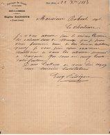 VP12.367 - Lettre - Fabrique De Coutils En Tous Genres Eugène RADIGUE à FLERS ( ORNE ) - 1800 – 1899
