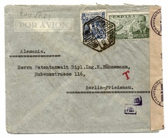 Madrid 1944 Nach Berlin - Brief, Zensur, Ohne Inhalt - 1931-....