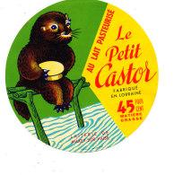 R  989- ETIQUETTE DE FROMAGE- LE PETIT CASTOR   FABRIQUE EN LORRAINE LAITERIE DE MAXEY SUR VAISE - Cheese