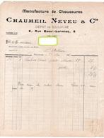 FACTURE CHAUMEIL NEVEU & Cie  Manufacture De Chaussures TOULOUSE St ANTONIN  Mai 1921 313 - Old Professions