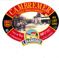R  995- ETIQUETTE DE FROMAGE-  CAMEMBERT  E. GRAINDORGE  LIVAROT (CALVADOS) - Cheese