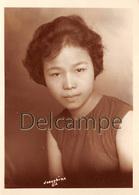 Photographie Philippines Manila Manille 1963 - Filipina Beautiful Young Girl  - Jolie Jeune Fille  Studio Pro - Personnes Identifiées