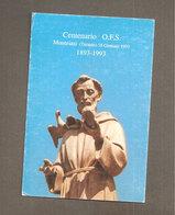 SAN FRANCESCO CENTENARIO O.F.S.  SANTINO CARTOLINA - Devotion Images