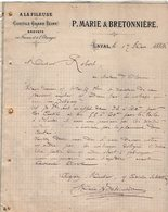 VP12.368 - Lettre - ¨ A LA FILEUSE ¨ Coutils  Grand Teint - P.MARIE & BRETONNIERE à LAVAL - Textile & Clothing