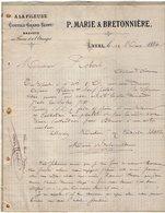 VP12.369 - Lettre - ¨ A LA FILEUSE ¨ Coutils  Grand Teint - P.MARIE & BRETONNIERE à LAVAL - Textile & Clothing
