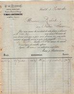 VP12.370 - Lettre - ¨ A LA FILEUSE ¨ Coutils  Grand Teint - P.MARIE & BRETONNIERE à LAVAL - Textile & Clothing