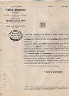 VP12.371- Lettre - ¨ A LA FILEUSE ¨ Coutils  Grand Teint - P.MARIE & BRETONNIERE à LAVAL - Textile & Clothing