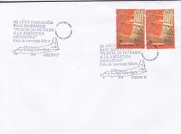 40 AÑOS FUNDACION BAE MARAMBIO. PISTA ATERRIZAJE 850M; FOKKER F 27. OBLIT 2009. ARGENTINA.- BLEUP - Research Stations