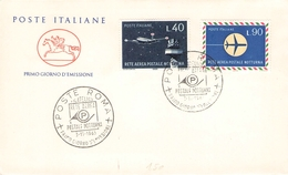 ITALIEN - FDC 1965 RETE AEREA POSTALE Mi #1193-1194 - 6. 1946-.. Republik