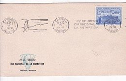 SOBRE ENVELOPE. BANDELETA PARLANTE:DIA NACIONAL DE LA ANTARTIDA. OBLIT 1970. ARGENTINA.- BLEUP - Polar Philately