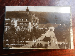 17567) BAD ALTHEIDE WANDELHALLE KURHAUS VIAGGIATA 1928 BOLLO ASPORTATO - Schlesien