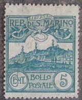 SAINT-MARIN - YT N°35 - Mont Titan Avec Ses Trois Tours - 1903 - Oblitéré - Saint-Marin