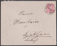 Arch (Raka), 5 Kr. Envellope Stationary, Mailed In 1889 - 1850-1918 Empire