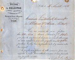 VP12.372 - Lettre - Toiles - Tissage Mécanique L.DELESTRE à LILLE Pour CHATEAU D'OLERON - Textile & Clothing