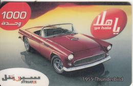 SYRIA - Car, 1955 Thunderbird, SyriaTel Prepaid Card 1000 SP, Used - Syria