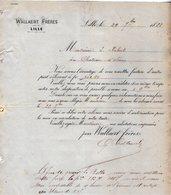 VP12.373 - Facture - WALLAERT Frères à LILLE - 1800 – 1899