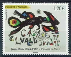 Andorra (French Adm.), Joan Miro, 2018, MNH VF - Andorre Français