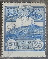 SAINT-MARIN - YT N°38 - Mont Titan Avec Ses Trois Tours - 1903 - Oblitéré - Oblitérés