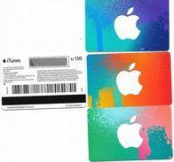 @+ Lot De 3 Cartes Cadeau - Gift Card NORVEGE : Itunes (150 / 250 / 500 Kr) - Gift Cards