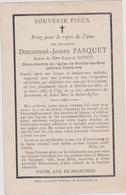IMAGE PIEUSE ANCIENNE MORTUAIRE DIEUDONNE JOSEPH PASQUET  EPOUX GUYOT NOVILLE LES BOIS  19EME - Devotion Images