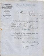 VP12.376 - Facture - Toiles Cretonnes Maison FOURNET - Paul DUCHESNE - FOURNET Successeur à LISIEUX - Textile & Clothing
