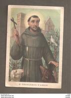 S. FRANCESCO D'ASSISI  SANTINO CARTOLINA - Devotion Images