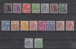 Deutschland Alliierte Besetzung Bizone ** 36II - 51II, 49 IIa,  Netzaufdruck  Katalog  27,00 - Bizone