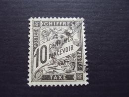 1892-TAXE N° 15- (10 Centimes Noir,) Oblitéré, Cote 2.50 Net 0.80 - Taxes