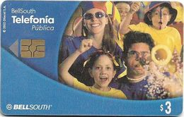 Ecuador - Bell South - Family Fans (Las Cabinas...) - Exp.07.2003, 3$, Used - Ecuador