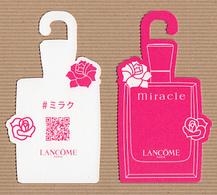 CC Carte Parfumée 'LANCÔME' MIRACLE Perfume Card JAPAN - Modern (from 1961)