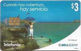 Ecuador - Bell South - Galápagos Islands - Exp.11.2002, (Gemplus Issue) 3$, Used - Ecuador