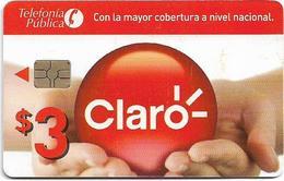 Ecuador - Claro - Logo And Hands, (Chip Gemplus), [Prison Card], 3$, Used - Ecuador