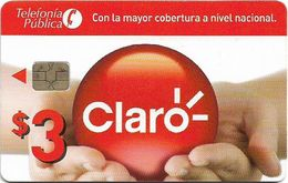 Ecuador - Claro - Logo And Hands, (Chip CHT05), [Prison Card], 3$, Used - Ecuador