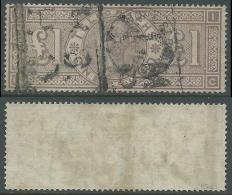 1870-80 GREAT BRITAIN USED TELEGRAPH STAMPS £1 PLATE 1 GRAY GREEN (CC) - Servizio