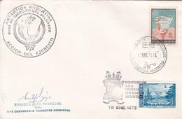 ANTARTIDA ARGENTINA. BASE DE EJERCITO GRAL BELGRANO. ACCION DEL EJERCITO. OBLIT 1973. AUTRES MARQUES. SIGNEE.- BLEUP - Antarctic Expeditions