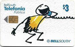 Ecuador - Bell South - Cartoon Boy On Phone - 2002, 3$, Used - Ecuador
