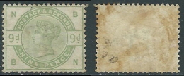 1883-84 GREAT BRITAIN USED SG 195 9d DULL GREEN (BN) - Usati