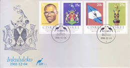 CISKEI / SOUTH AFRICA : FIRST DAY COVER WITH INFORMATION BROCHURE INSIDE : INKULULEKO : 04-12-1981 - Ciskei