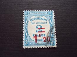 1929-TAXE N° 64- 1F20 Sur 2 Bleu, Oblitéré, Cote  16 Net 5.50 - Portomarken