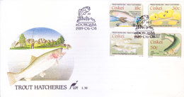 CISKEI / SOUTH AFRICA : FIRST DAY COVER WITH INFORMATION BROCHURE INSIDE : TROUT HATCHERIES : 08-06-1989 - Ciskei