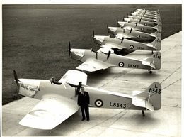 1938  RAF MILES MAGISTER   21 * 16  CM Aviation, AIRPLAIN, AVION AIRCRAFT - Aviación