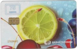 Kazakhstan - Kazakhtelecom - Lemon (Transparent Card) 2005, 75U, Used - Kazakhstan