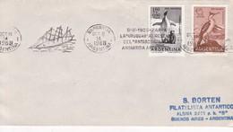 "BANDELETA PARLANTE LA ""URUGUAY"" AL RESCATE DEL ""ANTARTIC"" EN ANTARTIDA ARGENTINA OBLIT 1968. SOBRE ENVELOPE.- BLEUP - Polar Philately"