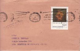 BANDELETA PARLANTE:DIA INTERNACIONAL DE LA ANTARTIDA. SOBRE ENVELOPE. ARGENTINA.- BLEUP - Polar Philately