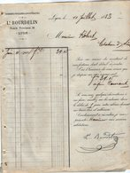VP12.379 - Facture - Soieries, Foulards & Nouveautés Ls. BOURDELIN à LYON - Textile & Clothing