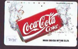 Télécarte Japon / 330-55171 - COCA COLA (2135) - COKE Japan Phonecard Telefonkarte - Advertising