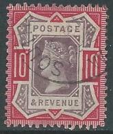1887-92 GREAT BRITAIN USED JUBILEE SG 210 10d DULL PURPLE AND CARMINE - 1840-1901 (Viktoria)