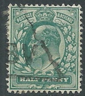 1902-10 GREAT BRITAIN USED SG 216 1/2d DULL BLUE GREEN - 1902-1951 (Re)
